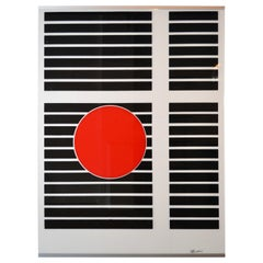 Mid Century Geometric Pop Art Print on Plexiglass