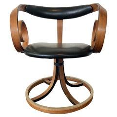 Mid Century George Mulhauser Walnut Bentwood Sultana Scroll Chair