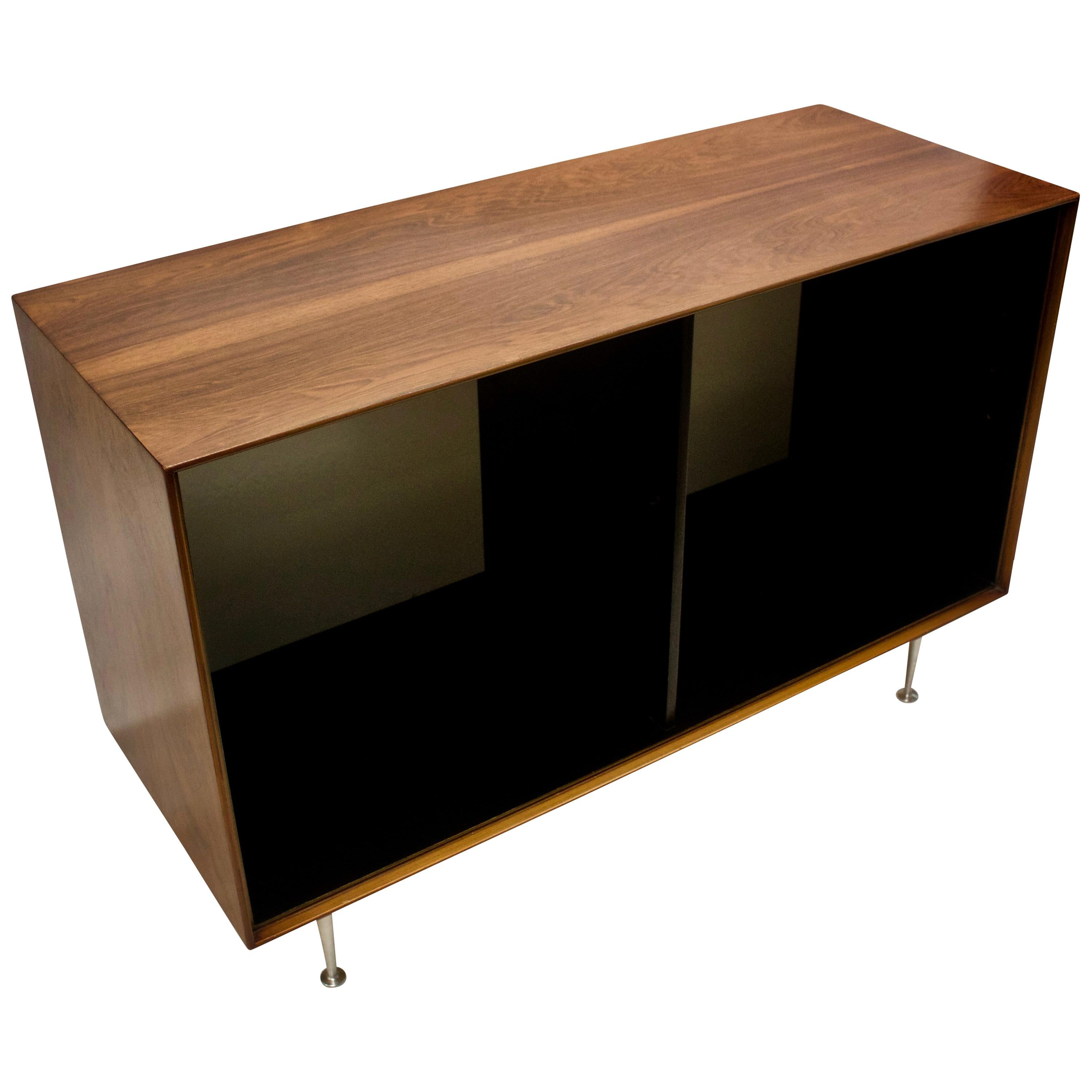 Midcentury George Nelson Rosewood Thin Edge Open Storage Cabinet, USA, 1950s