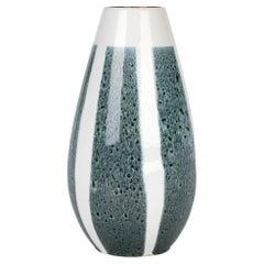 Mid-Century German Blue Panel Decorated Ceramic Vase