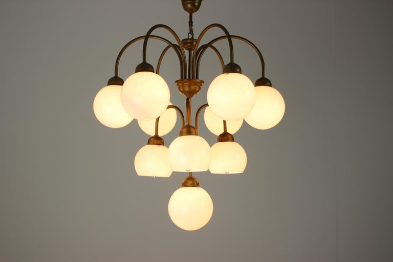 Late 20th Century Midcentury German Chandelier, 1980s For Sale
