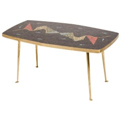Mid-Century German Coffee Table with a Mosaic Top, circa 1950