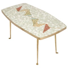 Mid-Century German Coffee Table with Mosaic Top, circa 1950