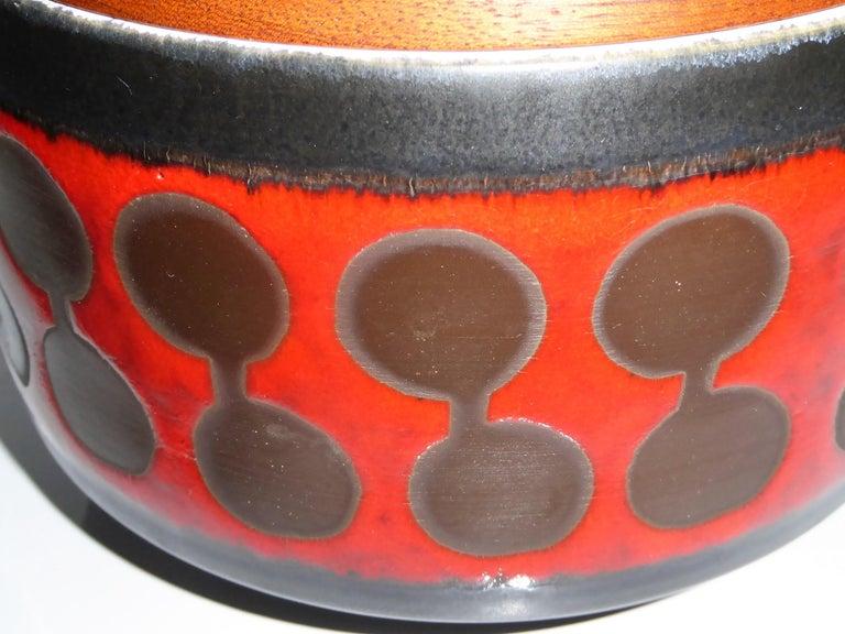 Mid-Century Modern Midcentury German Modern Ceramic Soup Tureen 1970s Attrib Carstens Tönnieshof For Sale