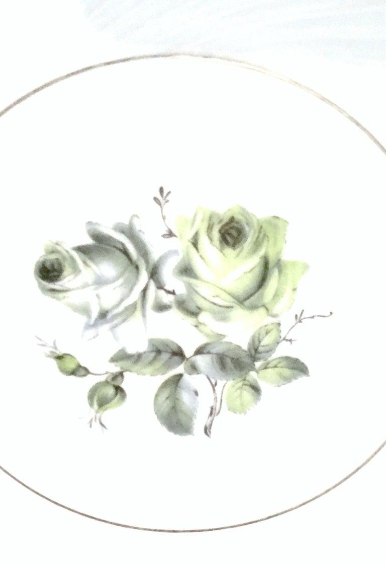 Midcentury German Porcelain & Platinum Dinnerware by, Royal Tettau, Set of 12 For Sale 2