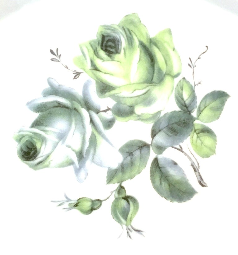 Midcentury German Porcelain & Platinum Dinnerware by, Royal Tettau, Set of 12 For Sale 3