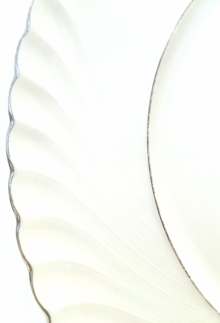 Midcentury German Porcelain & Platinum Dinnerware by, Royal Tettau, Set of 12 For Sale 4