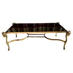 Mid Century Gilt Bronze Coffee Table Jansen Style