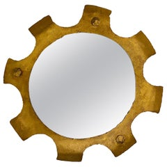 Midcentury Gilt Iron Mirror