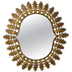 Midcentury Gilt Spanish Sunburst Mirror