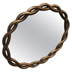 Mid Century Gilt Wood Ribbon Mirror