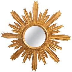 Midcentury Giltwood Starburst Mirror