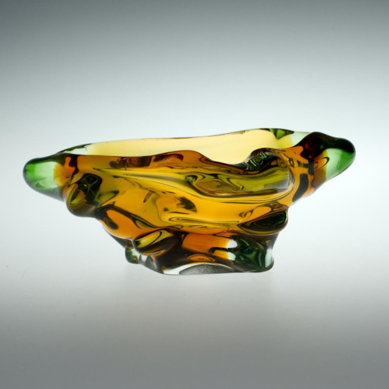 Ashtray from the set of art glass