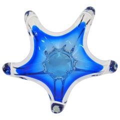 Midcentury Glass Bowl by Frantisek Zemek for Mstisov Glass Factory