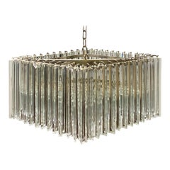 Mid-Century Glass Prisms Chandelier by Camer