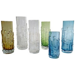 Midcentury Glass Vases by Bo Borgström for Åseda, Sweden