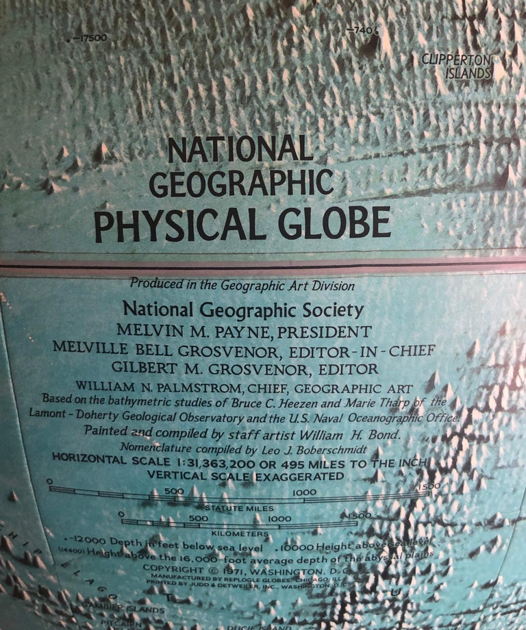 Midcentury Globe on Smoked Lucite Stand For Sale 7