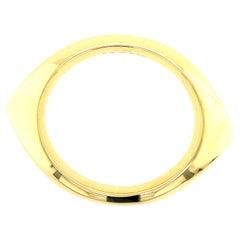 Mid-Century Gold Bangle Bracelet by Nanna DItzel for Georg Jensen