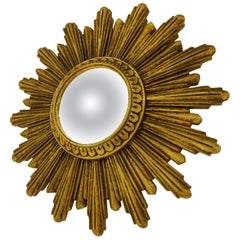 Midcentury Golden Sunburst Mirror, 1960s