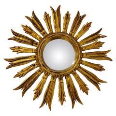 Midcentury Golden Sunburst Mirror