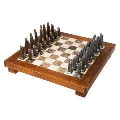Midcentury Gothic Chess Set by Dyaya