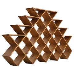 Midcentury Graphical Wall Unit in Pine