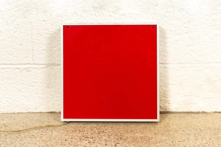 Midcentury Greg Copeland Red & Black Abstract Wall Art Op Art Light Box, 1970s For Sale 2