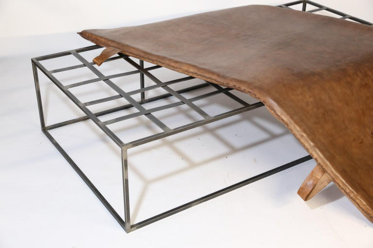 Leather Midcentury Gymnasium Mat Daybed/Table For Sale