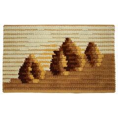 Midcentury Handmade Wool Tapestry, 1960s