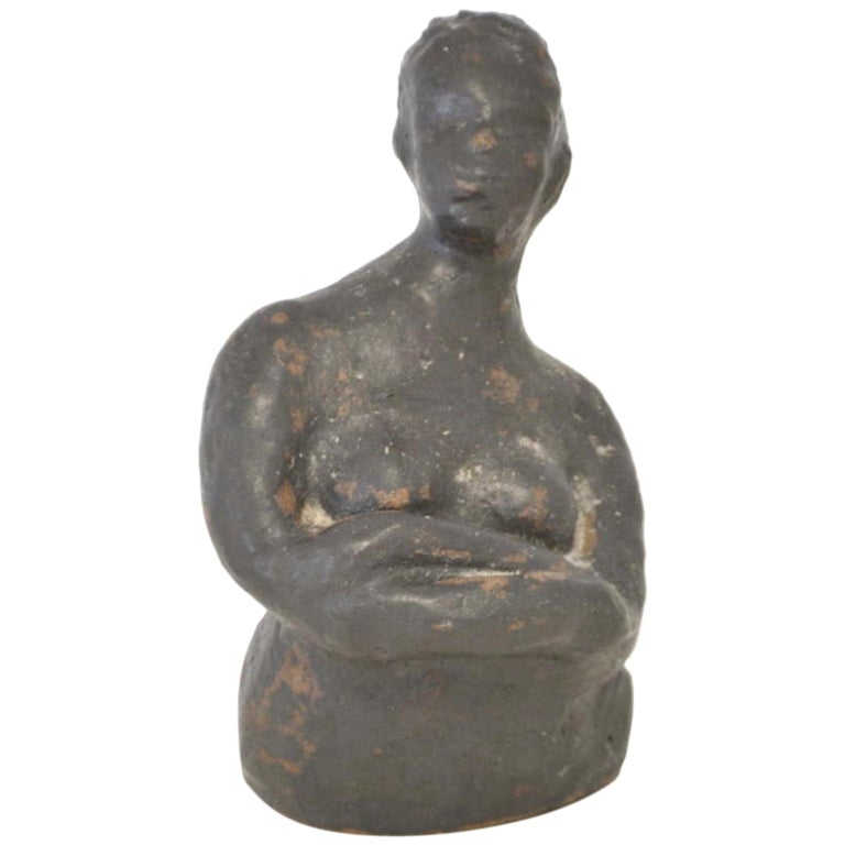 Midcentury Hand Thrown Sculpture For Sale