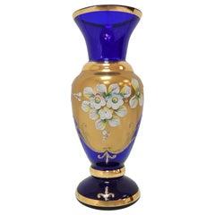 Mid-Century Handmade Vase, by Novoborske Sklo 'Gilded', 1960's