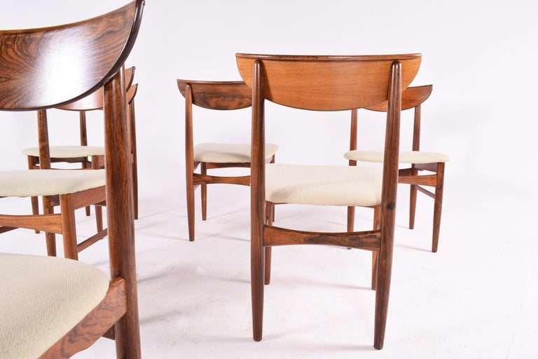 Midcentury Harry Østergaard set of 6 Dining Chairs for Randers Møbelfabrik For Sale 3