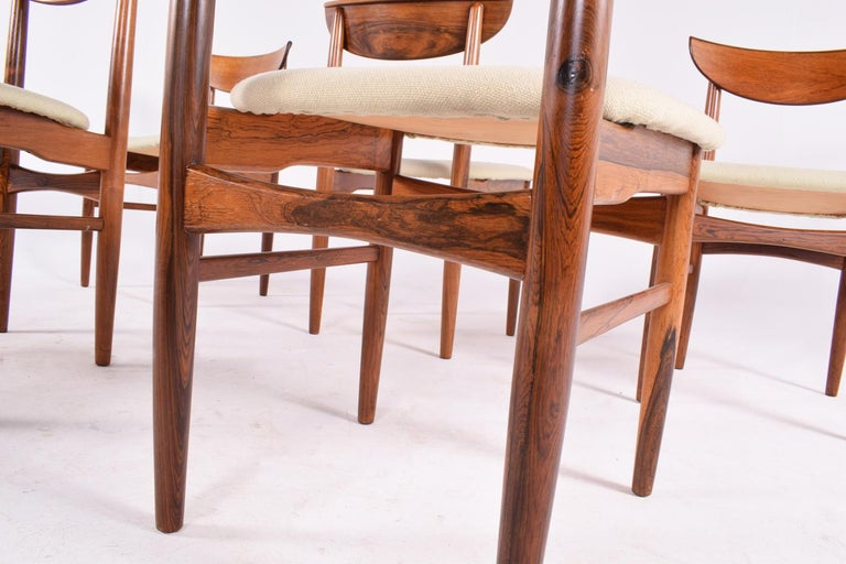 Midcentury Harry Østergaard set of 6 Dining Chairs for Randers Møbelfabrik For Sale 4
