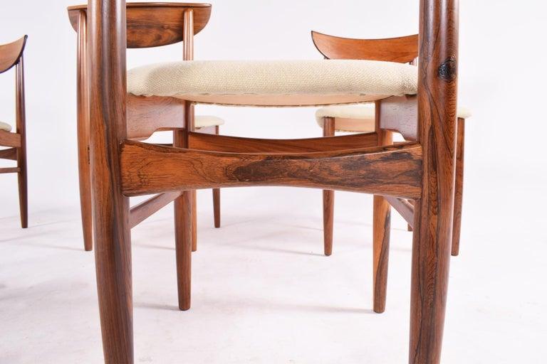Midcentury Harry Østergaard set of 6 Dining Chairs for Randers Møbelfabrik For Sale 5