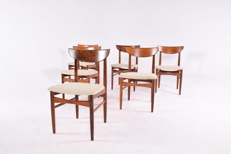 Mid-Century Modern Midcentury Harry Østergaard set of 6 Dining Chairs for Randers Møbelfabrik For Sale
