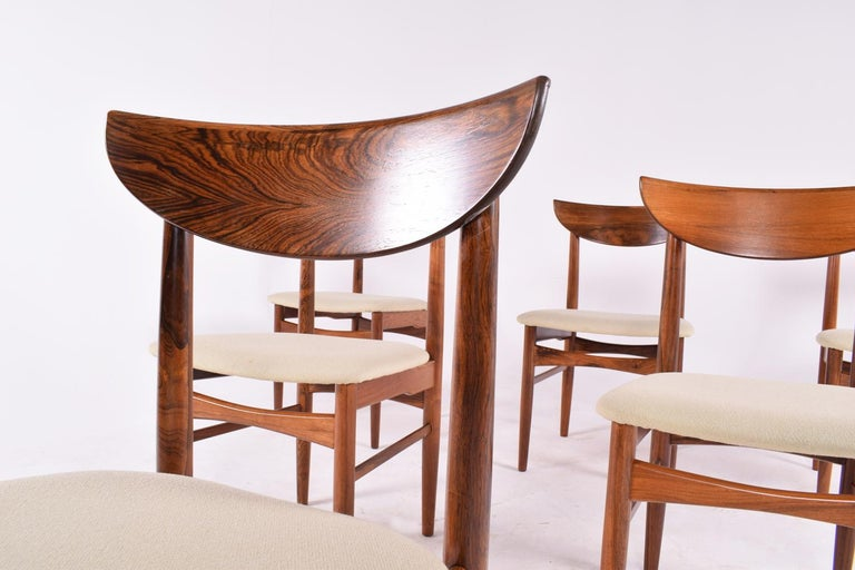 Danish Midcentury Harry Østergaard set of 6 Dining Chairs for Randers Møbelfabrik For Sale