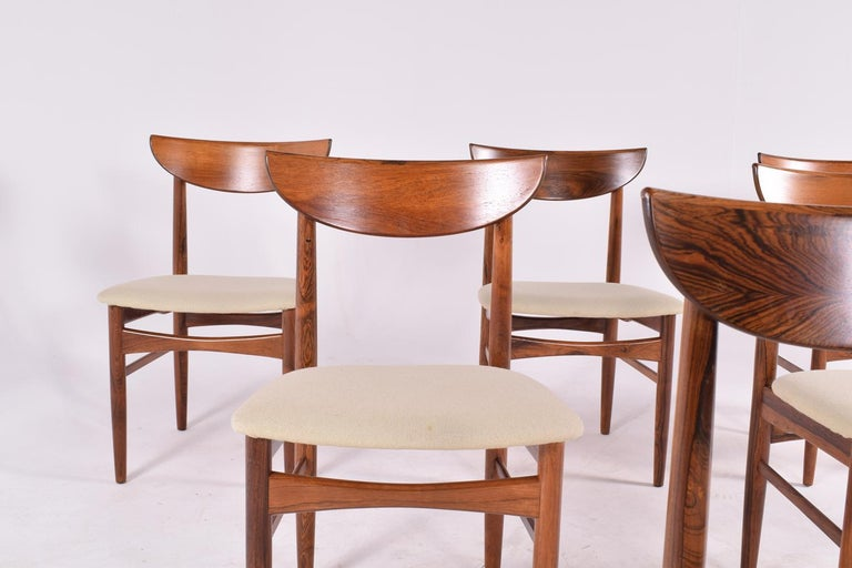 Midcentury Harry Østergaard set of 6 Dining Chairs for Randers Møbelfabrik In Good Condition For Sale In Lisboa, Lisboa