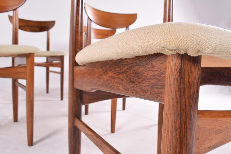 Mid-20th Century Midcentury Harry Østergaard set of 6 Dining Chairs for Randers Møbelfabrik For Sale