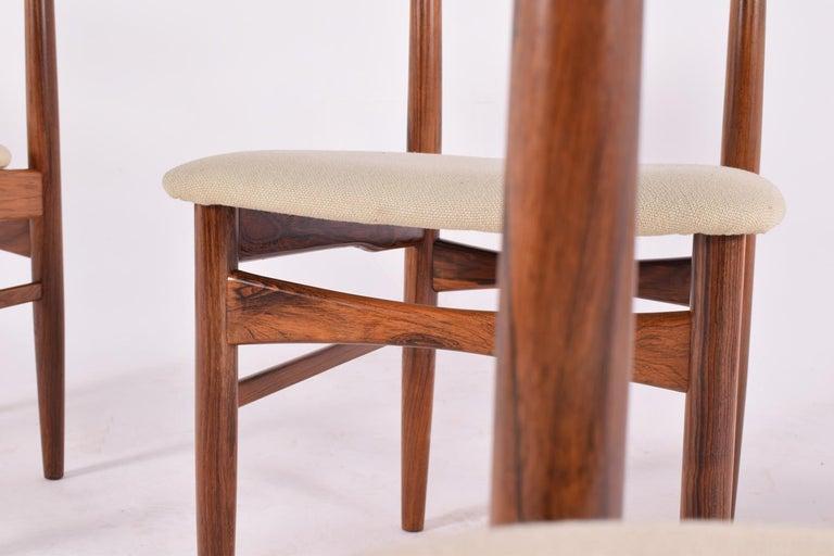 Midcentury Harry Østergaard set of 6 Dining Chairs for Randers Møbelfabrik For Sale 1