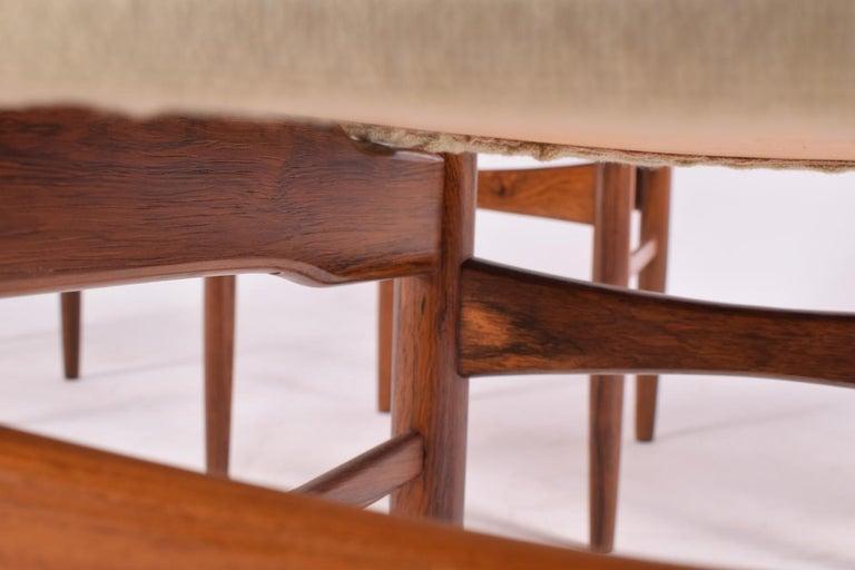 Midcentury Harry Østergaard set of 6 Dining Chairs for Randers Møbelfabrik For Sale 2
