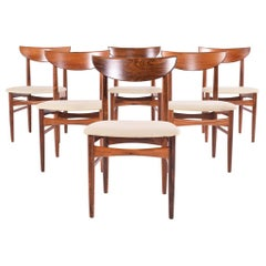 Midcentury Harry Østergaard set of 6 Dining Chairs for Randers Møbelfabrik