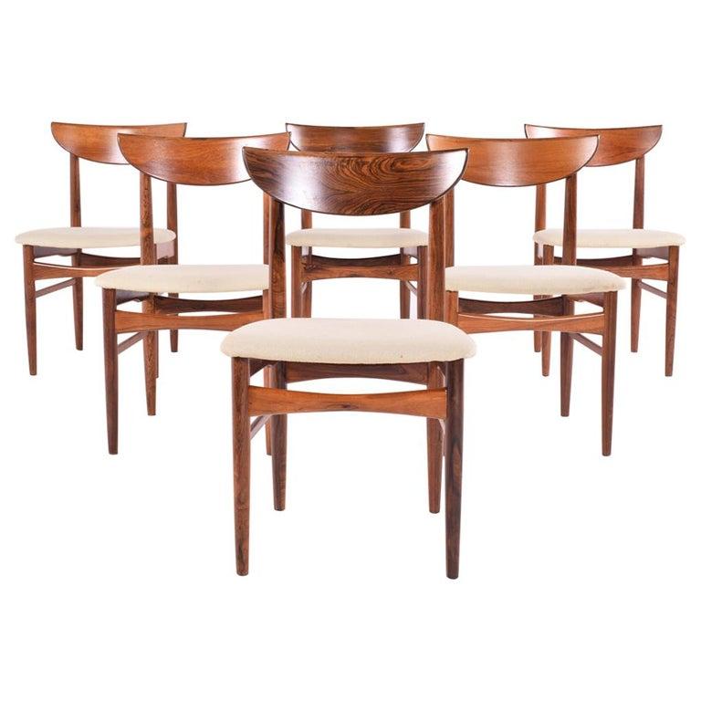 Midcentury Harry Østergaard set of 6 Dining Chairs for Randers Møbelfabrik For Sale