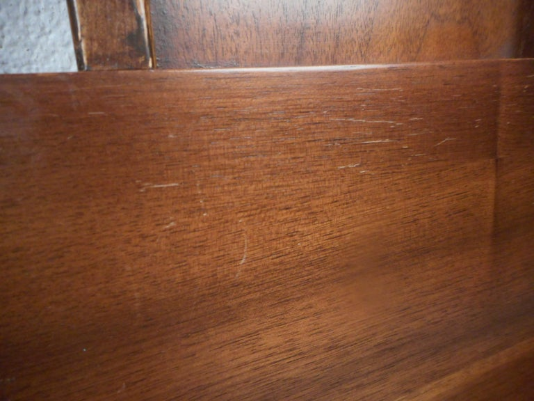 Midcentury Headboard and Footboard For Sale 1