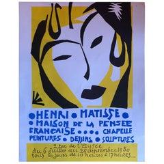 Mid Century Henri Matisse Maison De La Pensee Lithograph Exhibition Poster