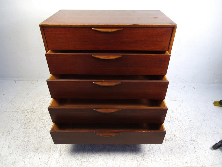 Veneer Midcentury Highboy Dresser by Lane For Sale