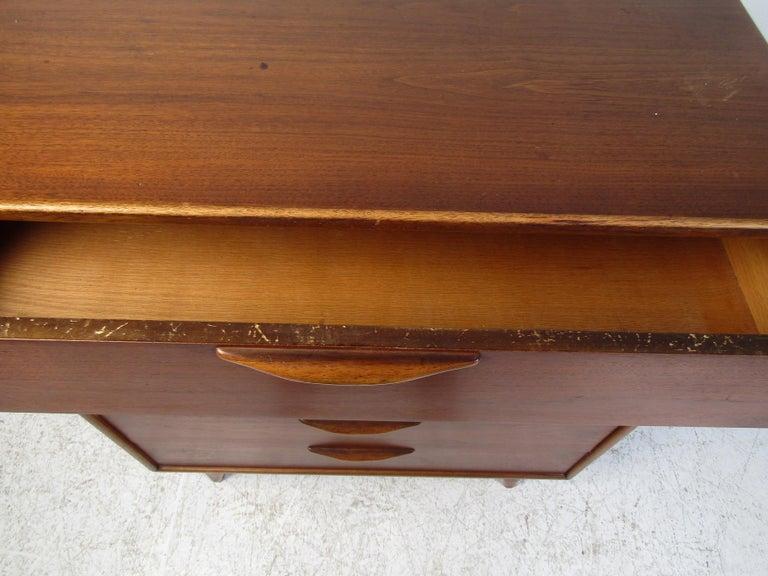 Wood Midcentury Highboy Dresser by Lane For Sale