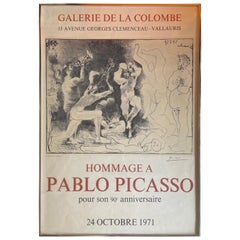"""Mid-Century """"Hommage a Pablo Picasso"""" Lithograph / Poster"""