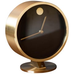 Mid Century Howard Miller Brass Museum Clock