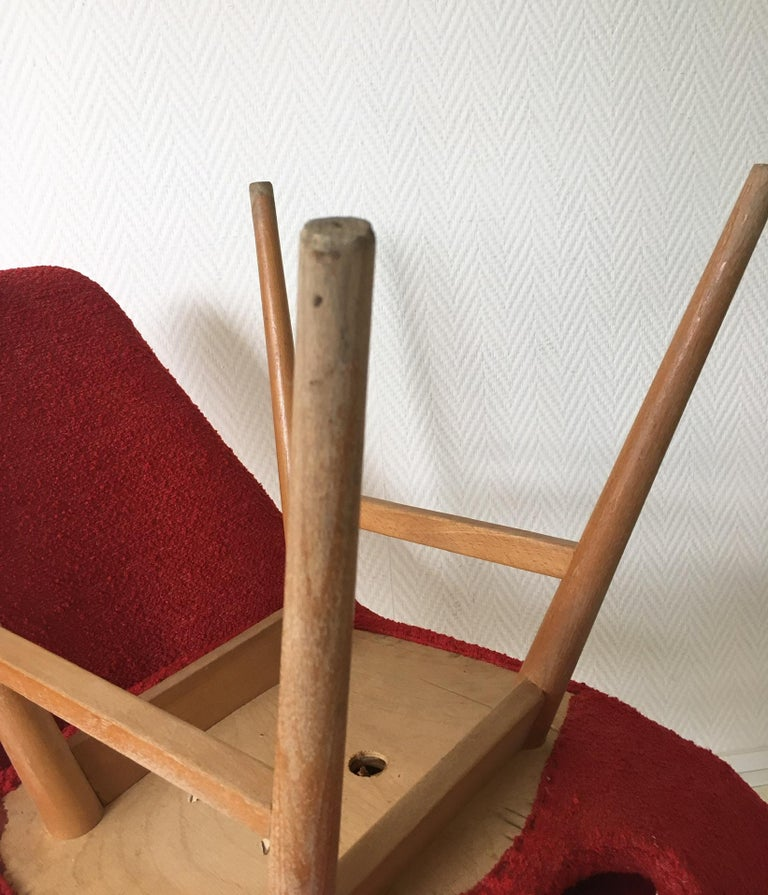 Midcentury Hungarian Chairs, Side Chairs by Judit Burian and Erika Szek, 1950s For Sale 6