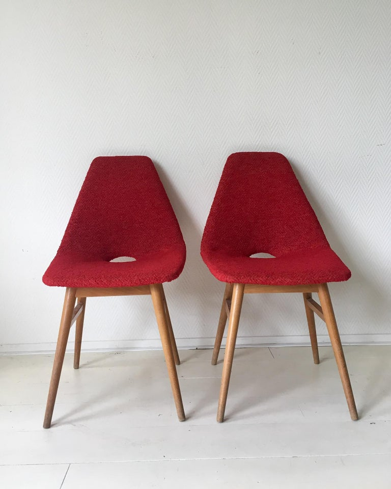 Midcentury Hungarian Chairs, Side Chairs by Judit Burian and Erika Szek, 1950s In Fair Condition For Sale In Schagen, NL
